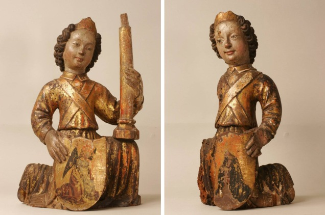 Picture of pair of kneeling angels. Copyright Fitzwilliam Museum, Cambridge