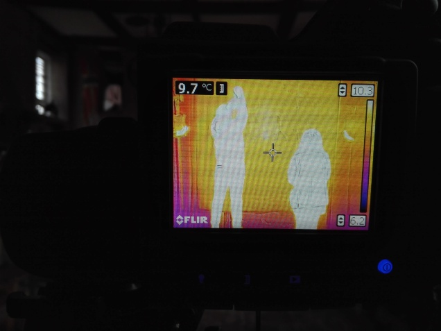 Image of thermal imaging at Hellens Manor by SEAHA students